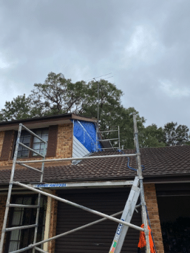 spinryde during weather cladding