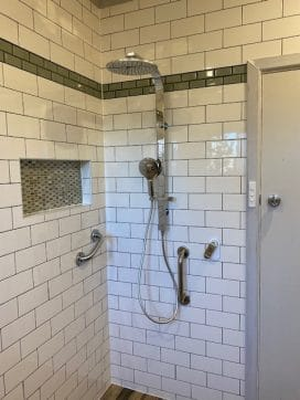 shower head in corner