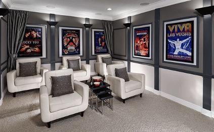 convert garage into cinema