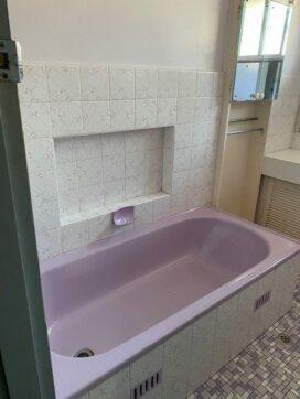 ryde purple bathroom